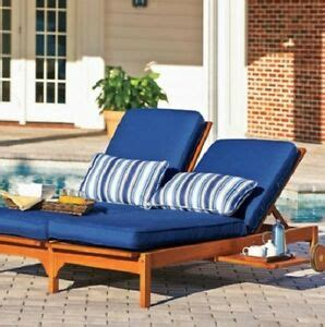 double eucalyptus chaise lounge chair outdoor deck patio pool furniture lounger