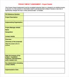 Impact Assessment Template by Sle Impact Assessment 8 Documents In Pdf Excel