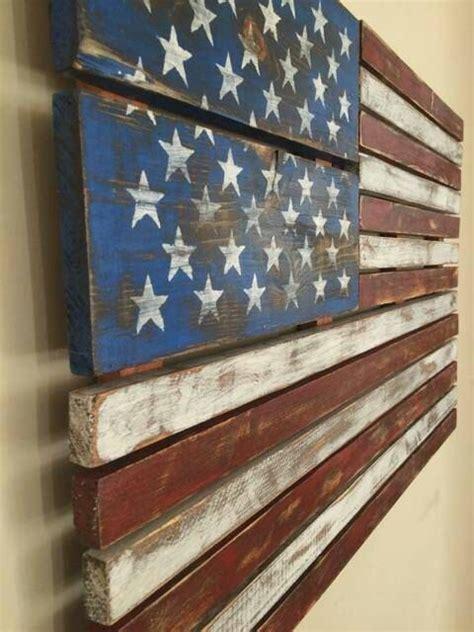 american flag pallet art hand painted rustic handmade