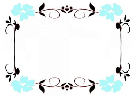 flower border template template update234 com template
