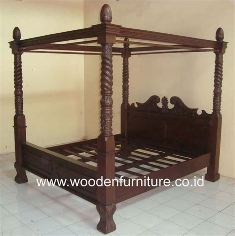 antique canopy bed teak canopy bed solid wood four posters bed antique