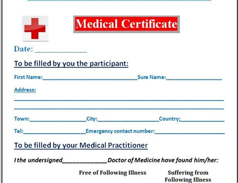 sle medical certificate template formal word templates