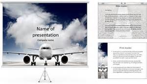 aviom template avion sur la piste mod 232 les des pr 233 sentations powerpoint et