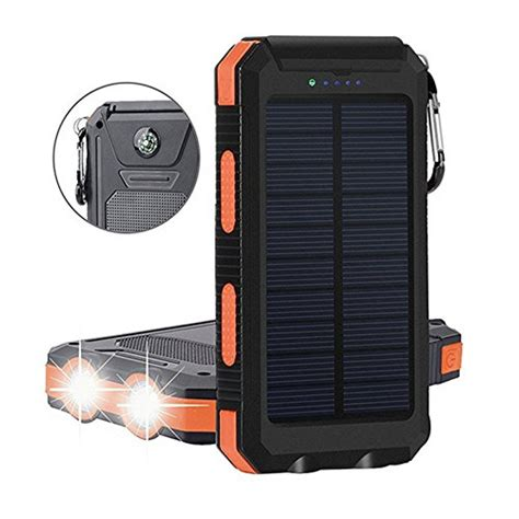 Power Bank Solar System 20000mah solar power bank solar charger waterproof