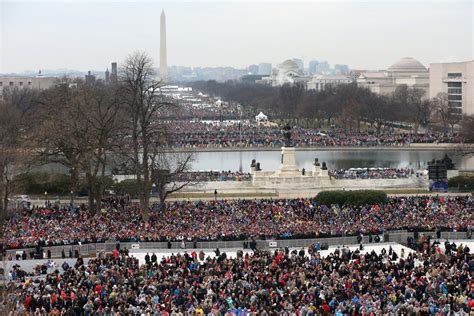 picture of inauguration crowd how do we know trump s inaugural crowd size the atlantic