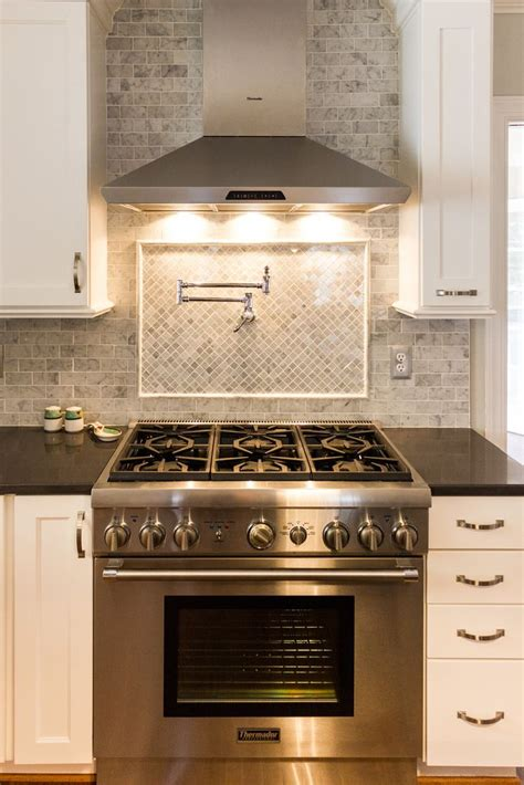 stove tile backsplash best 25 pot filler ideas on coffee center kitchen ideas and kitchens