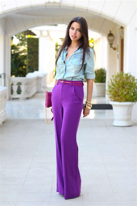 celebrity pink dress pants jewel tones trend how to wear amethyst purple glam radar