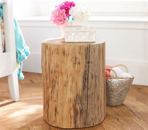 wood stump side table stump side table pottery barn