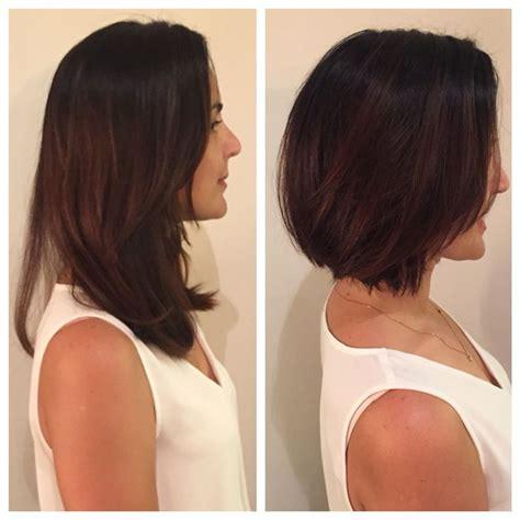 hair cut after dbs haircut before and after bob razor bob texture bumble