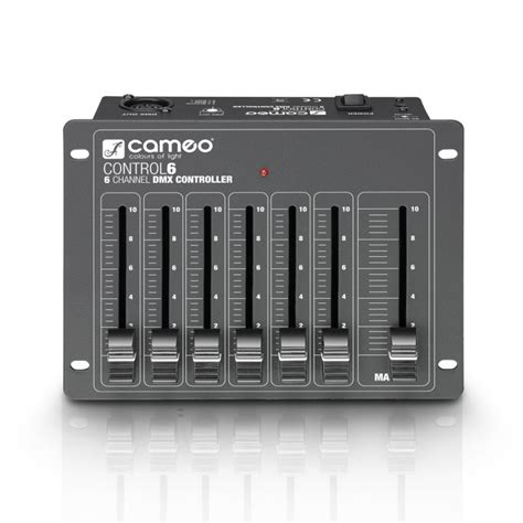 6 channel light controller cameo 6 6 channel dmx controller