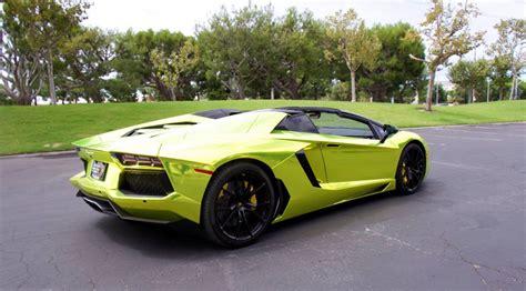 Chrome Lamborghini Lamborghini Aventador Roadster In Tennis Yellow Chrome