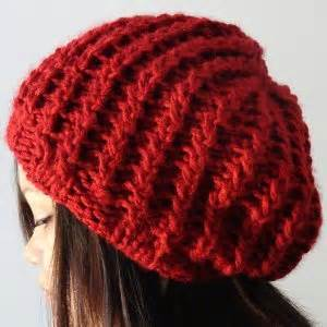 how to knit ribbing on circular needles rickrack rib slouchy hat pattern allfreeknitting