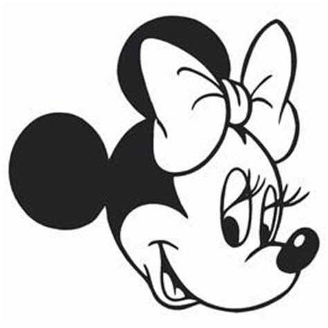 coloring pages of minnie mouse face minnie mouse head clipart best