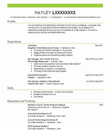 1382 performing arts cv exles templates livecareer
