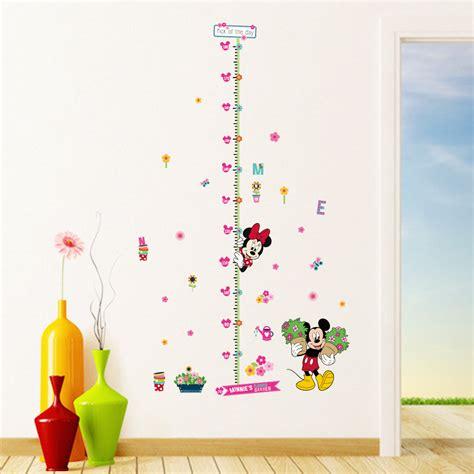 aliexpress wall stickers minnie mickey growth chart wall stickers for kids room
