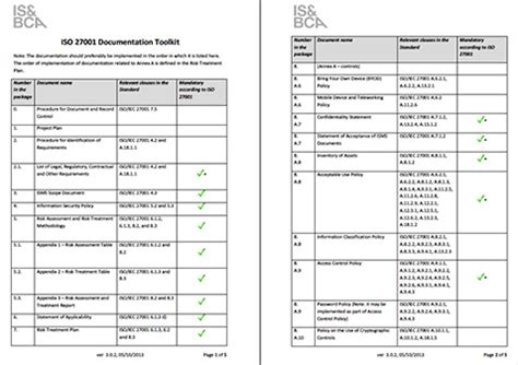 iso 27001 risk assessment template inside the iso 27001 documentation toolkit help net security