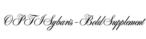 p bold supplement optisybaris bold font comments