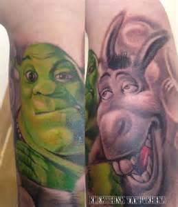 arm fantasy shrek tattoo by elektrisk tatovering