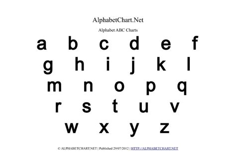 printable alphabet letters lower case lowercase alphabet charts in pdf normal bold italic