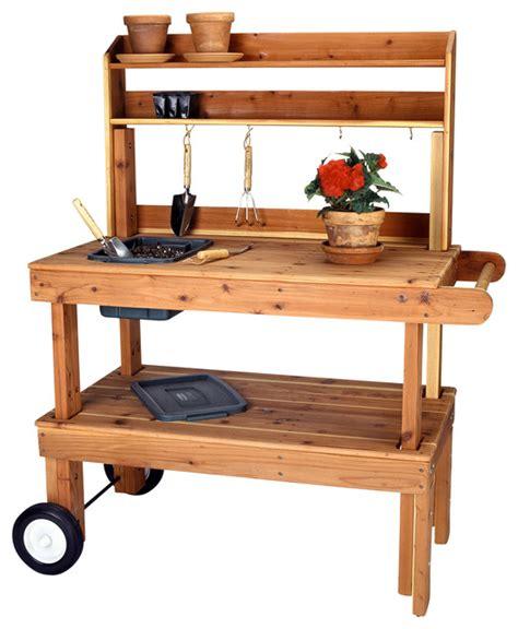 heavy duty potting bench western red cedar garden cart heavy duty rustic