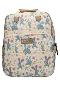 Rabbit Polka Backpack romeo rabbit print essex backpack bag with matching