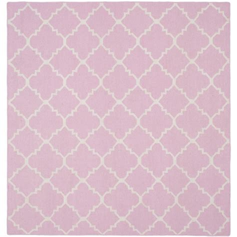 safavieh pink rug safavieh nantucket pink multi 6 ft x 6 ft square area rug nan141a 6sq the home depot
