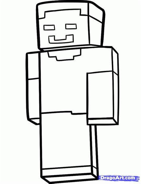 coloring pages of minecraft steve steve minecraft farvel 230 g colouring pinterest minecraft