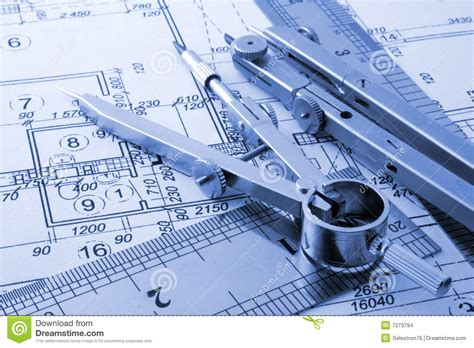 architect designers architecture blueprint stock images image 7273794