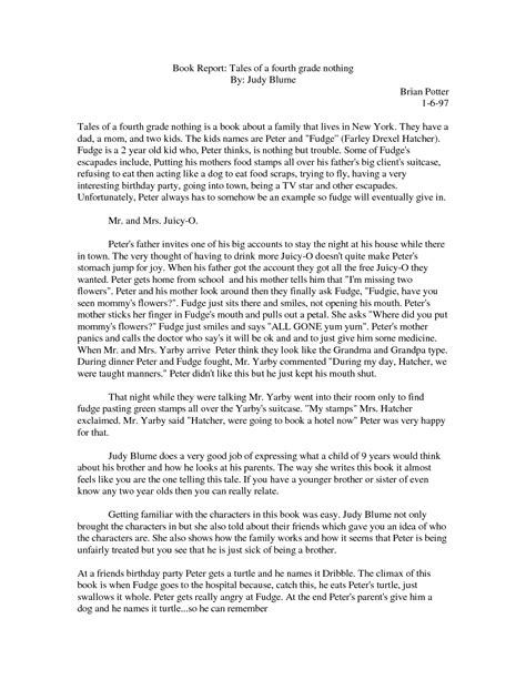 fourth grade book report how to write a book report for 4th graders