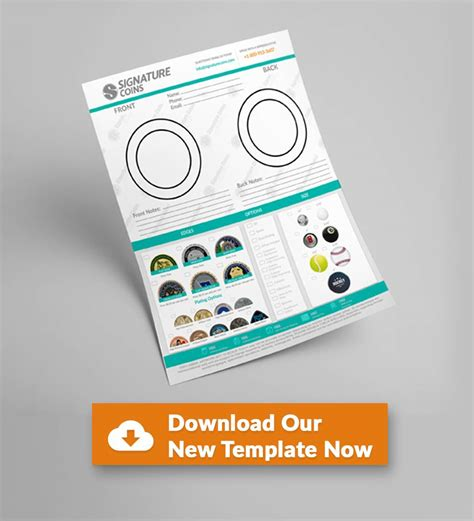 coin design template introducing the new custom coin design template