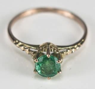 Ring 3ctw Size 5 5 antique 10k gold 2 3ctw genuine emerald filigree