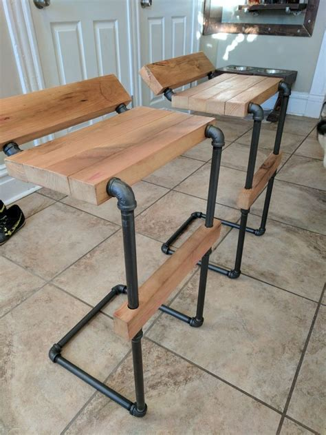 Galvanized Pipe Bar Stools by Best 25 Galvanized Pipe Furniture Ideas On