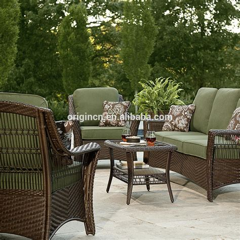 order patio furniture from china green color 5 patio set resin wicker outdoor