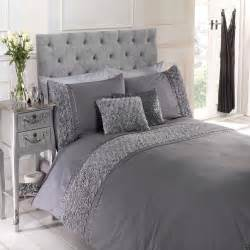 limoges rose floral chic ruffle duvet quilt cover set linen bedding silver grey ebay