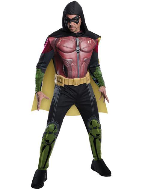 arkham robin deluxe fancy dress muscle costume