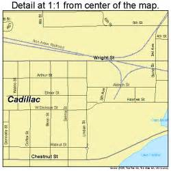 Map Cadillac Michigan Cadillac Michigan Map 2612320