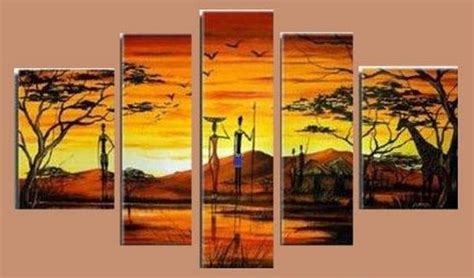 hand painted home decor oil painting on canvas oh5125 abstract modern african