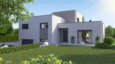 Plan De Maison Design by Maison Design Demi 233 Tage Toit Plat Clara Logivelay