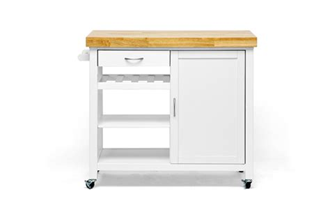 white kitchen cart island baxton studio modern kitchen carts