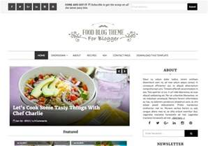 food blog blogger template blogspot templates 2017