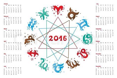 new year 2016 rabbit horoscope 2016 new year calendar horoscope circle with zodiac sign