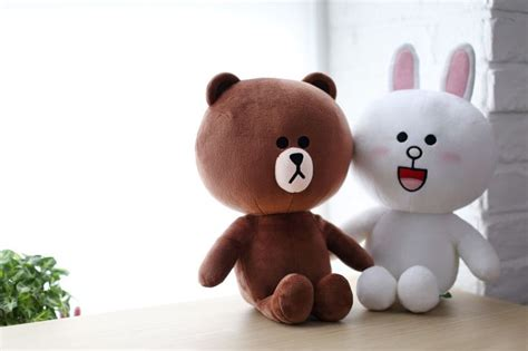 Boneka Sally With Toys sns line friends sitting brown teddy plush