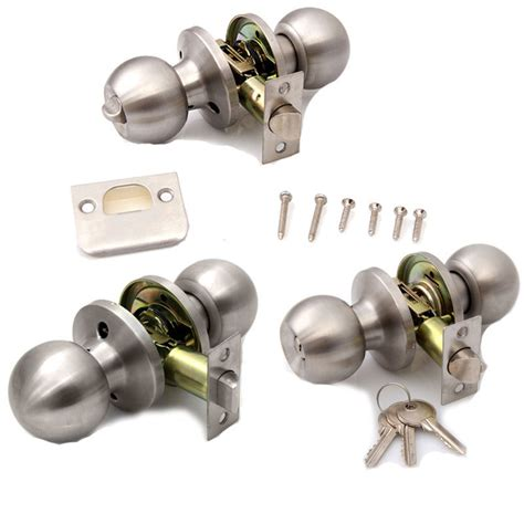 brushed stainless steel door knobs handles passage