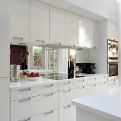 splashback ideas white kitchen splashback real homes modern white kitchen