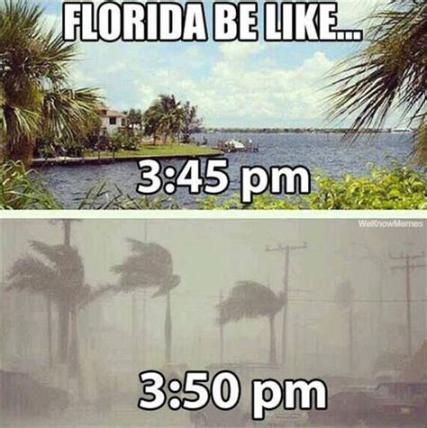 Florida Rain Meme - florida be like weknowmemes