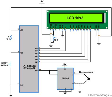 type k thermocouple wiring diagram type t thermocouple