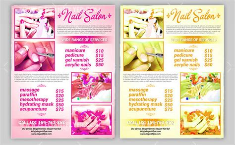 13 Nail Salon Flyer Templates Free Premium Download Nail Brochure Templates Free
