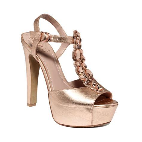 vince camuto shellys platform sandals in pink gold