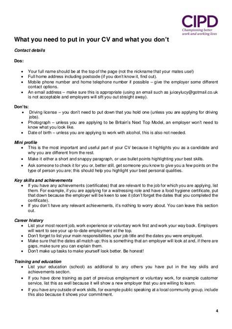 naming your resume cv handout 2015 cipd guernsey