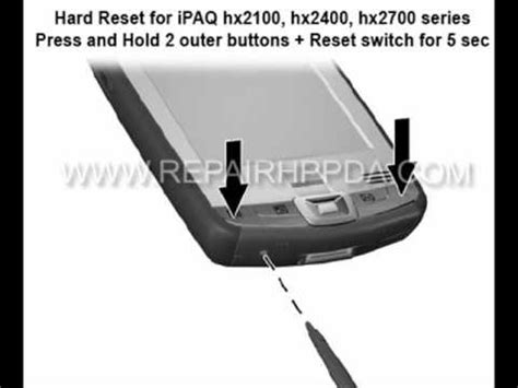 hard reset hp deskjet d2660 how to soft hard reset for hp ipaq hx2190 hx2100